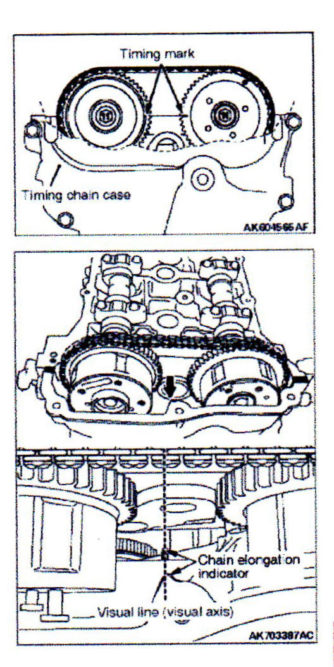 Mitsubishi timing chain visual inspection