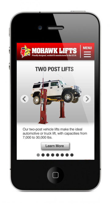 Mohawk Lifts launches mobile website