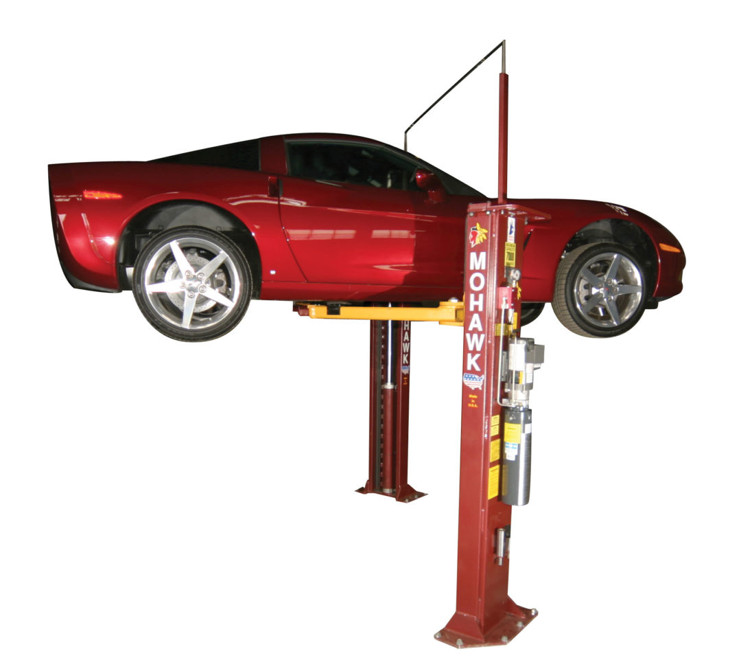 Mohawk's A-7 Asymmetric Two-Post Lift Fits in Narrow Bays