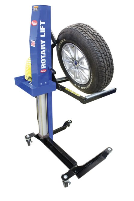MW-200 Mobile Wheel Lift from Rotary Lift reduces risk