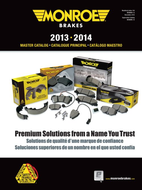 New applications and products in latest Monroe brakes catalog