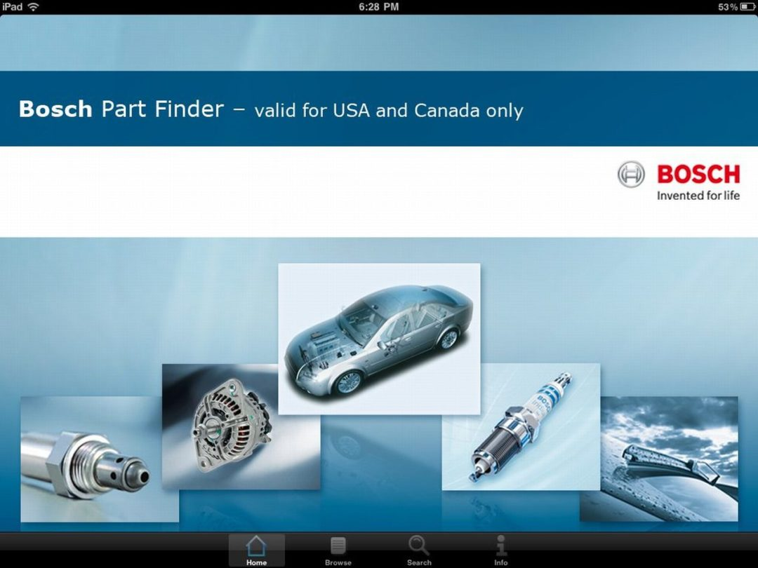 New Bosch part finder app for iPhones, iPads
