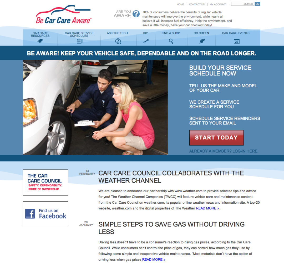 New Car Care Council website is customizable