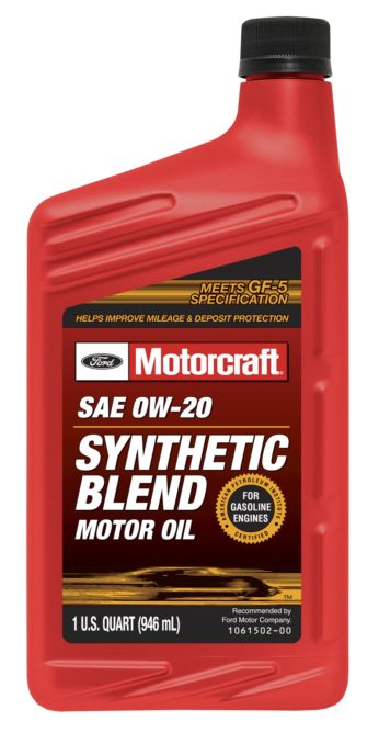New Motorcraft motor oil is designed for hybrid electric vehicles