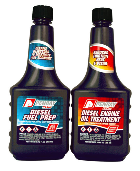 New Penray Plus fuel, oil additives enhance performance of light-duty diesel engines