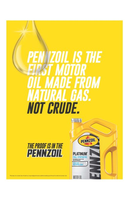 New 'Proof is in the Pennzoil' Ad Campaign Is Launched
