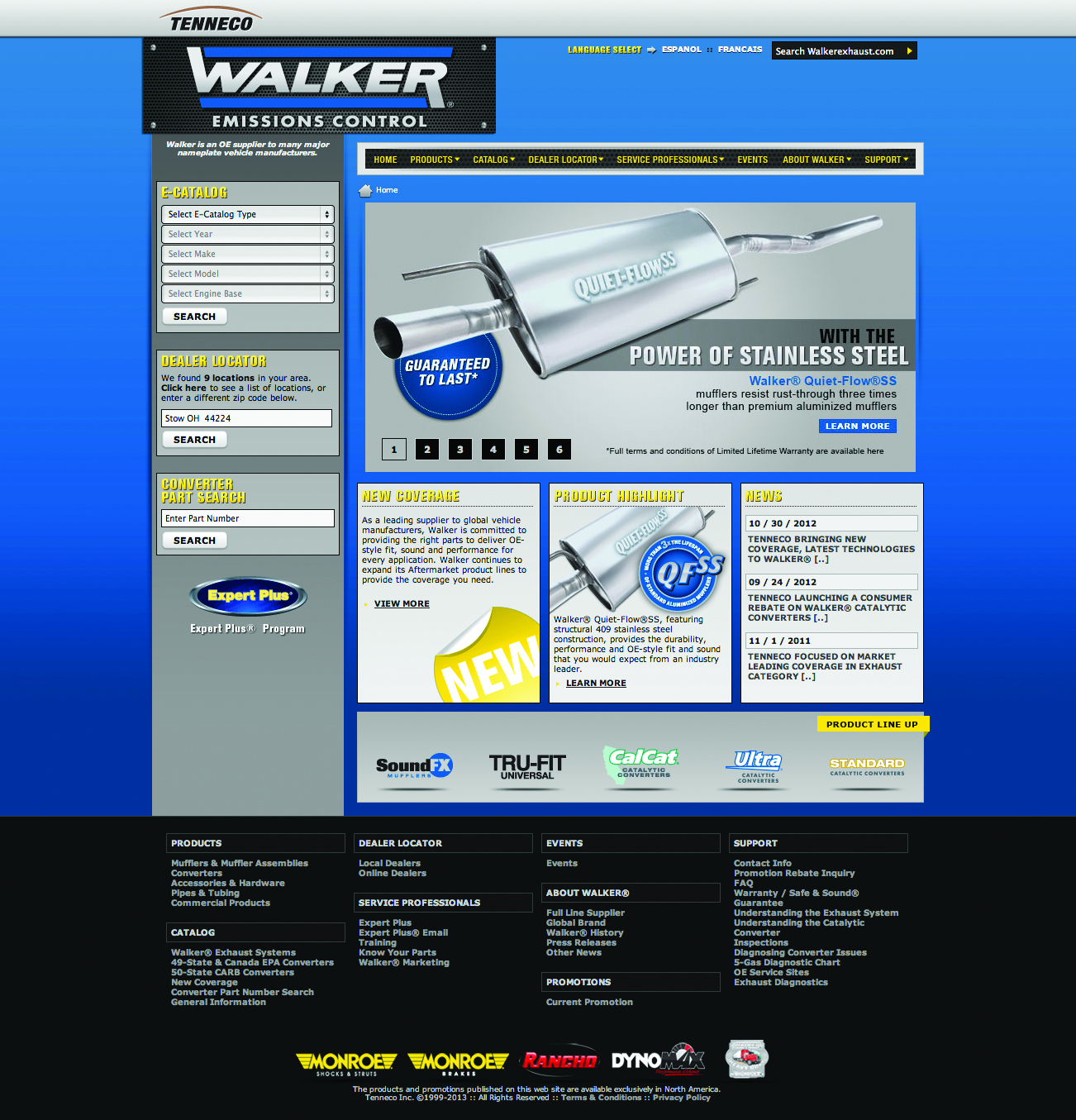 New Walker emissions website has enhanced functionality, content