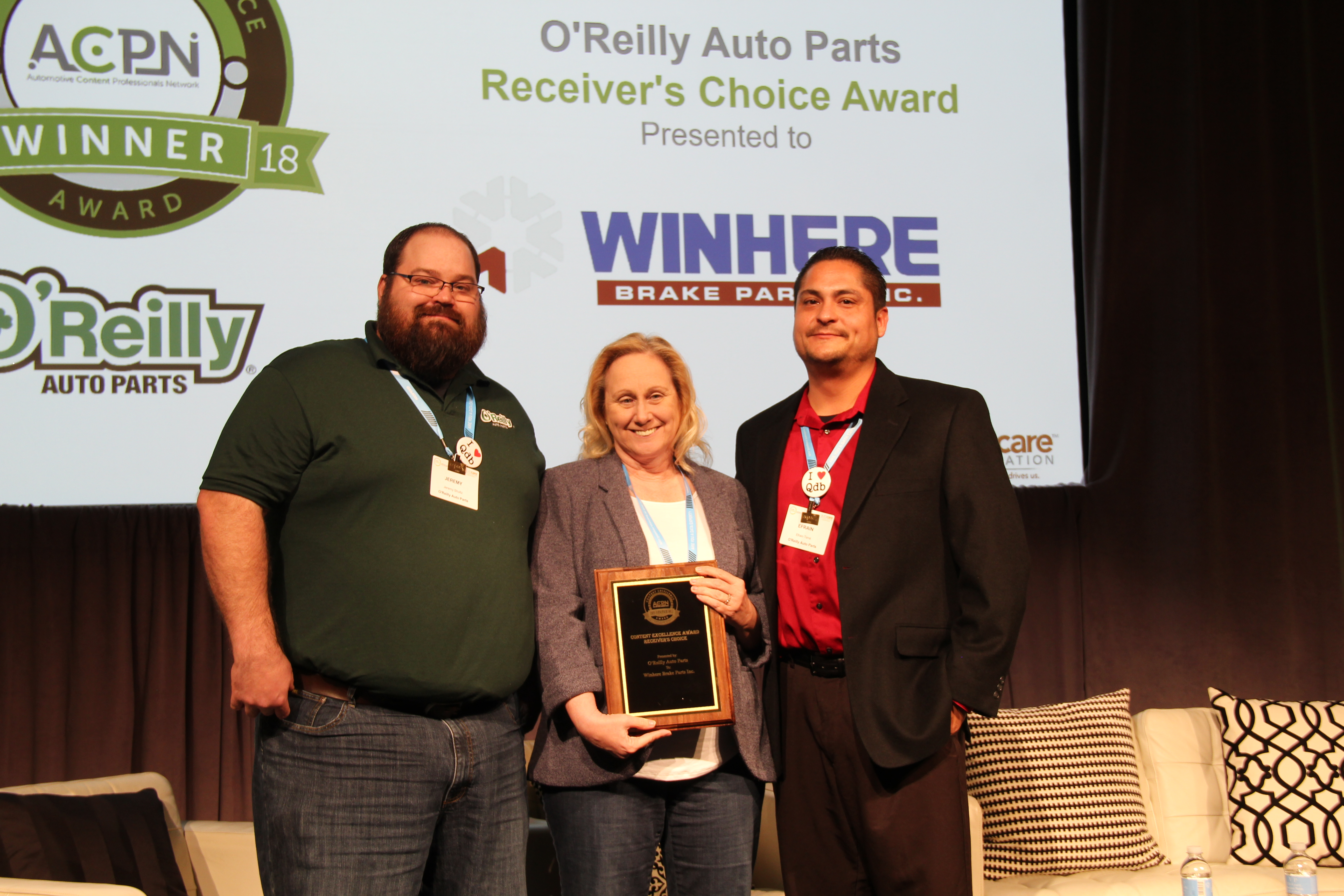 O'Reilly Auto Parts Honors Winhere Brake Parts
