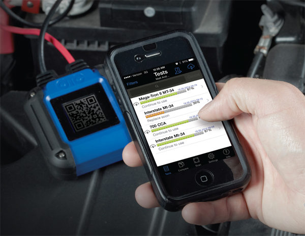 OTC releases Smart Battery Tester using mobile device to check starting system