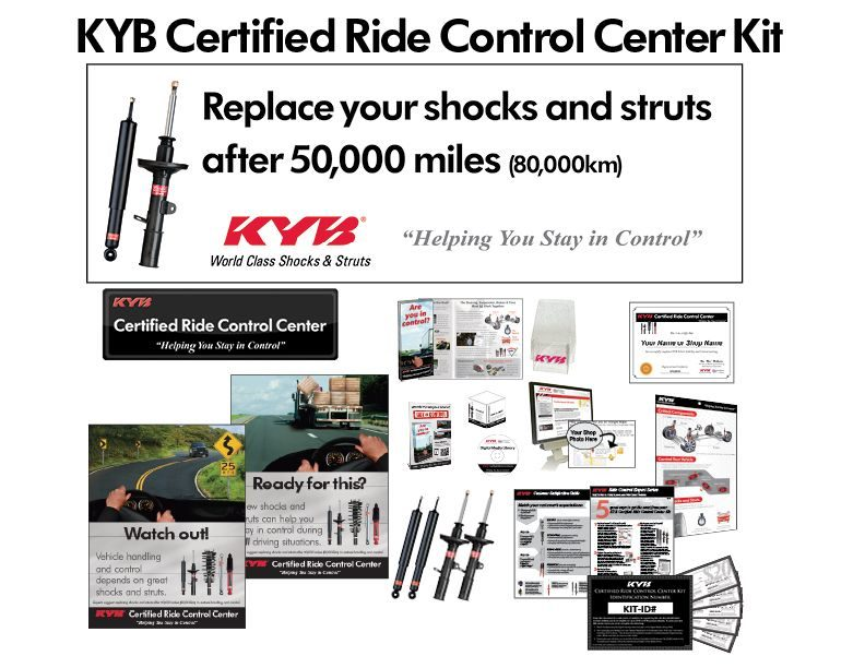 POP materials, digital library included in KYB Ride Control Center Kit
