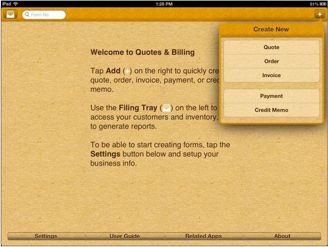 Powerful, fast, fully mobile Quotes & Billing App