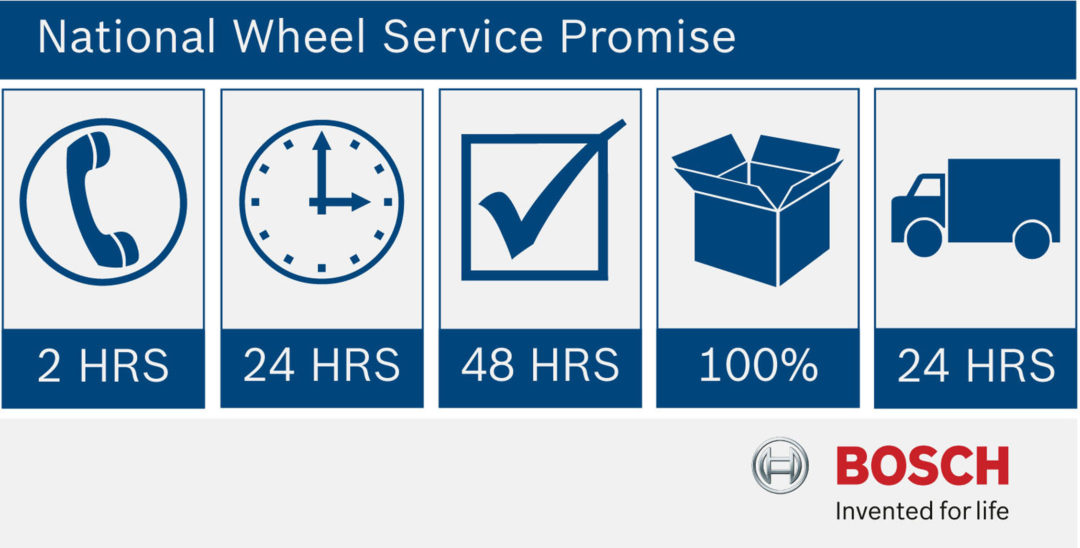 Prompt repairs with Bosch wheel service guarantee