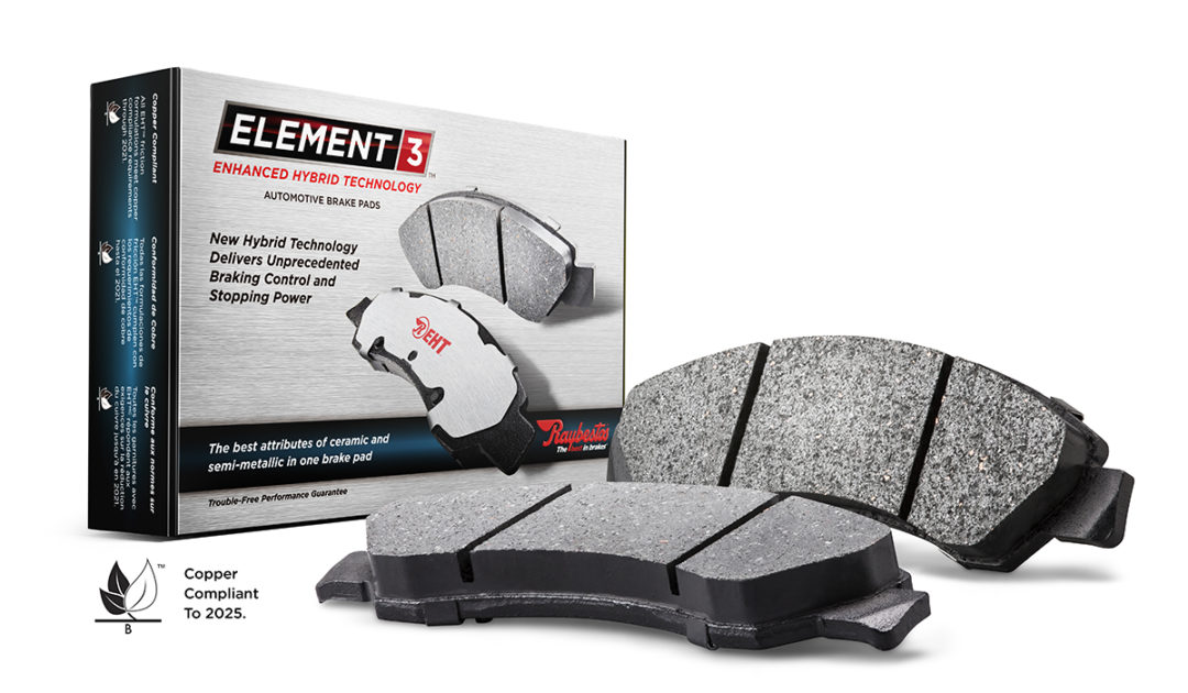 Raybestos brand's line of Element3 brake pads has 100 new part numbers