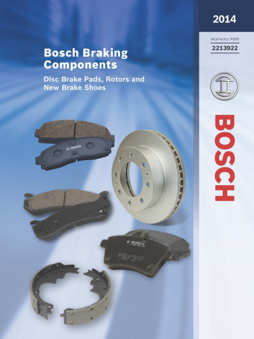 Robert Bosch 2014 Brake Components Catalog covers back to 1946