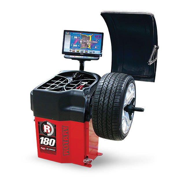 Rotary 180 Wheel Balancer Services Up to 30-Inch Rims