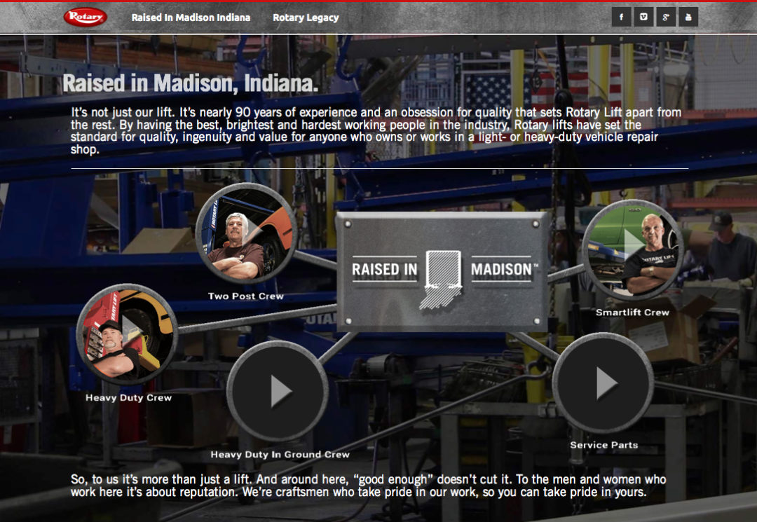 Rotary Lift campaign praises being 'Raised in Madison'