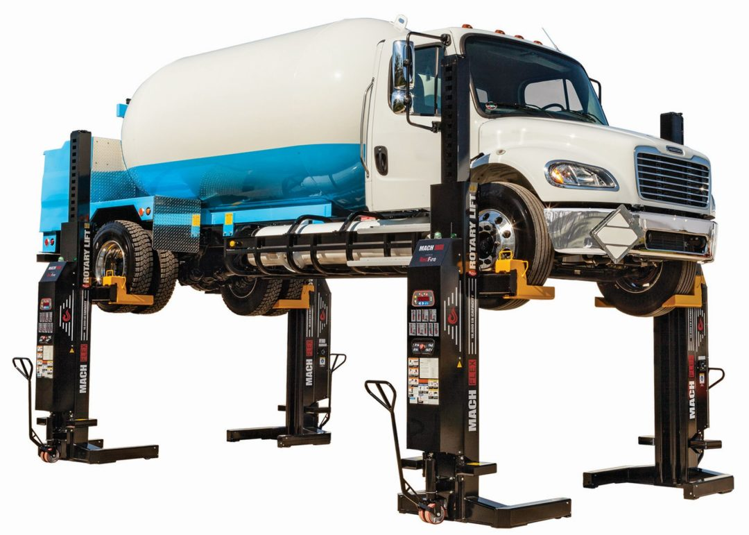 Rotary Lift Expands Mach Flex Mobile Column LIft Line