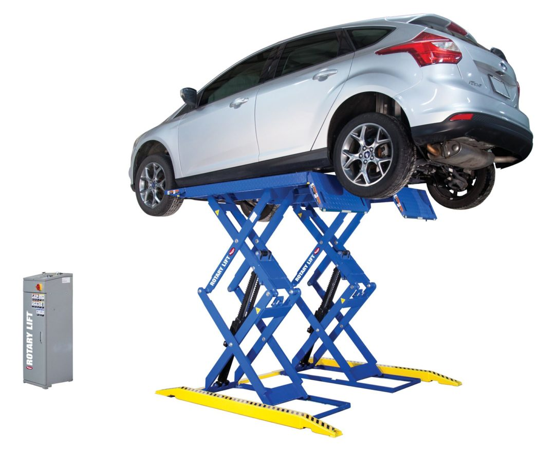 Rotary Lift Has A New Low-Profile Double-Section Scissor Lift