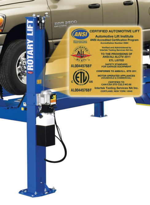 Rotary Lift models recertified to new ALI gold standard