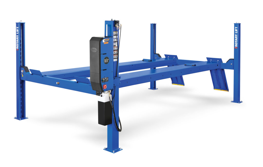 Rotary Lift offers four-post lift with Shockwave technology