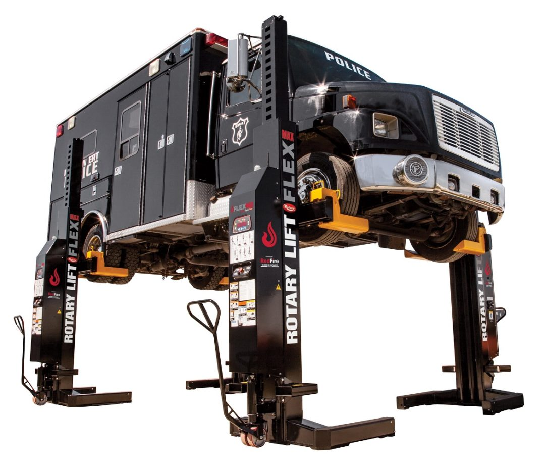 Rotary's New Lift Operates by Remote Control and Column Control