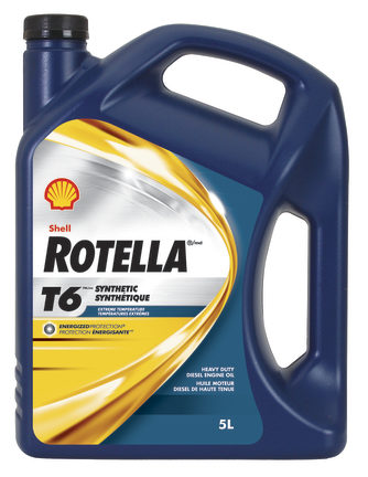 Shell Rotella T6 0W-40 synthetic oil operates in extreme cold