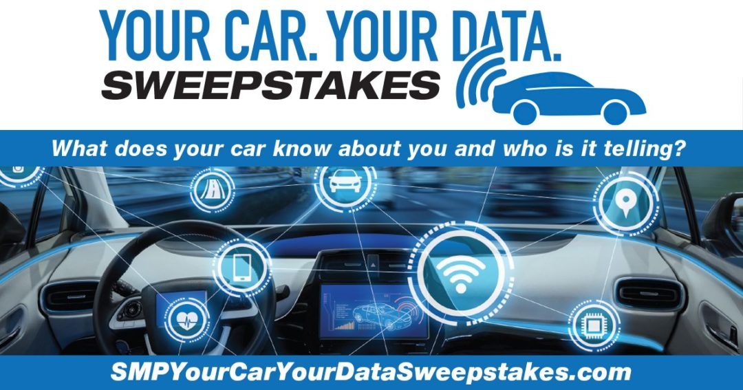 SMP Launches 'Your Car. Your Data.' Sweepstakes