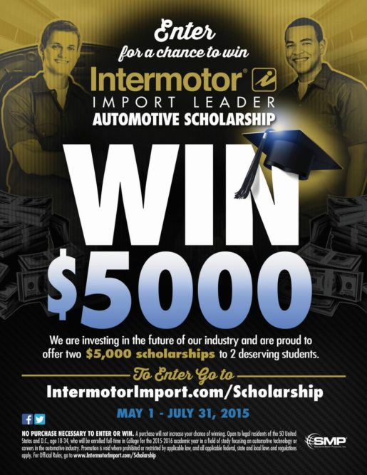 SMP will award two $5,000 scholarships in Intermotor contest