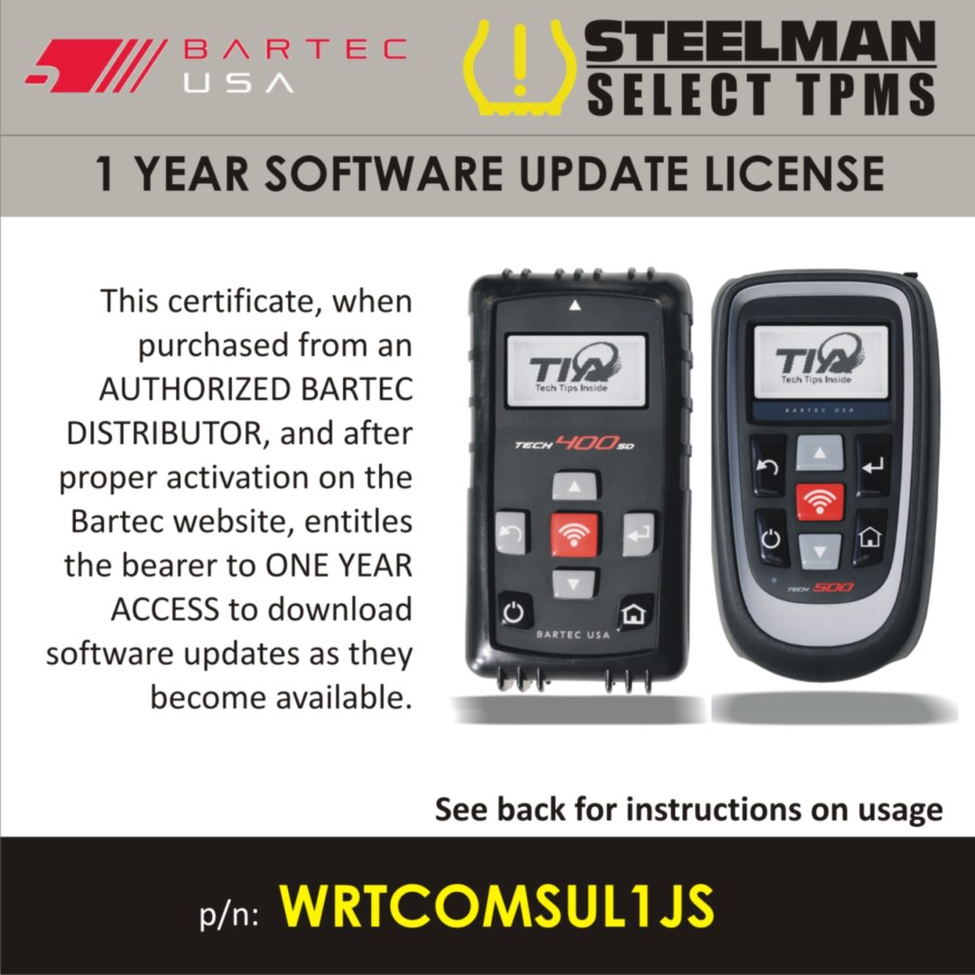 Steelman Promotion Offers Free TPMS Software Updates