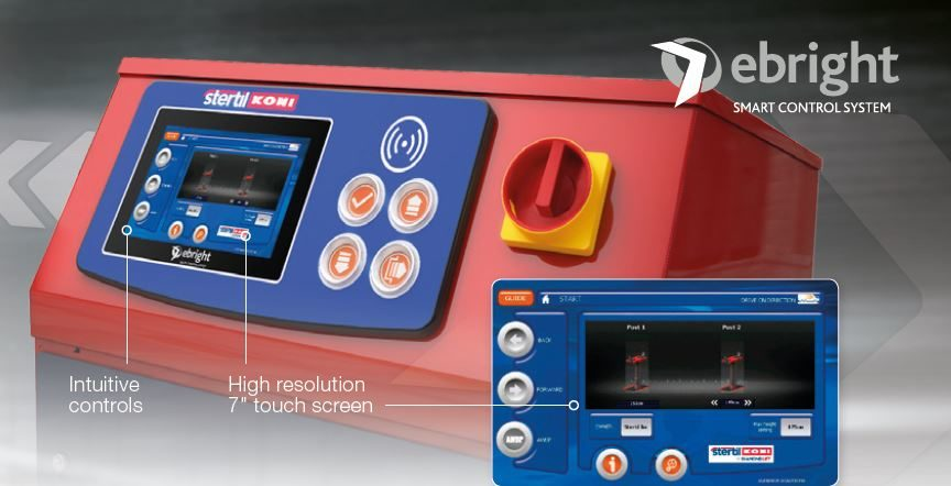 Stertil-Koni Adds Touch Screen Control System to Inground Piston Lift