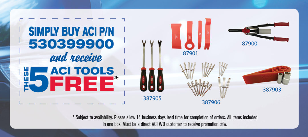 Techs can earn free service tools in ACI 2014 WD power window promotion