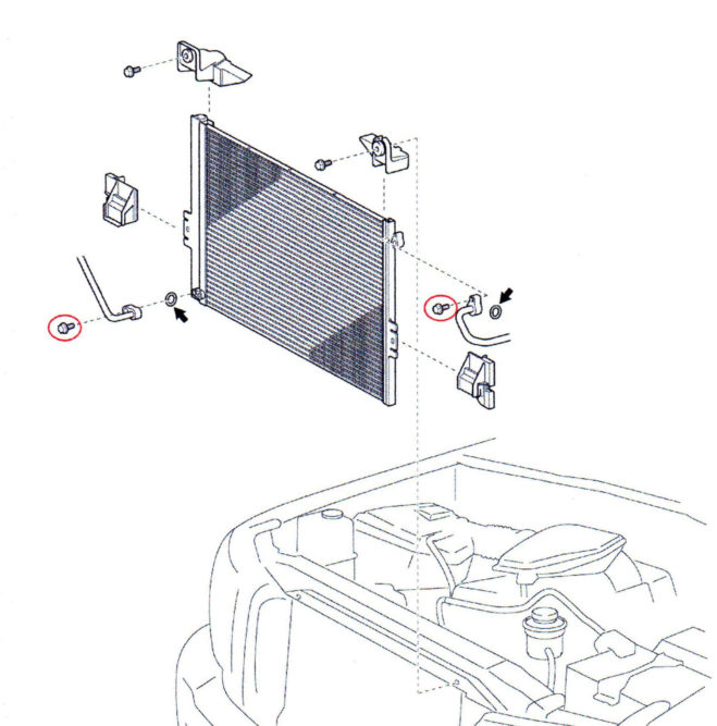 Toyota changes A/C condenser bolts