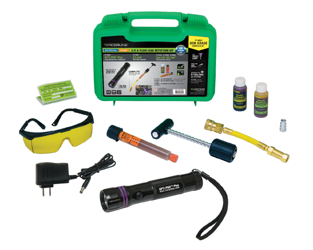 Tracer Articles Has A/C and Fluid Leak Detection Kit for Commercial Vehicles