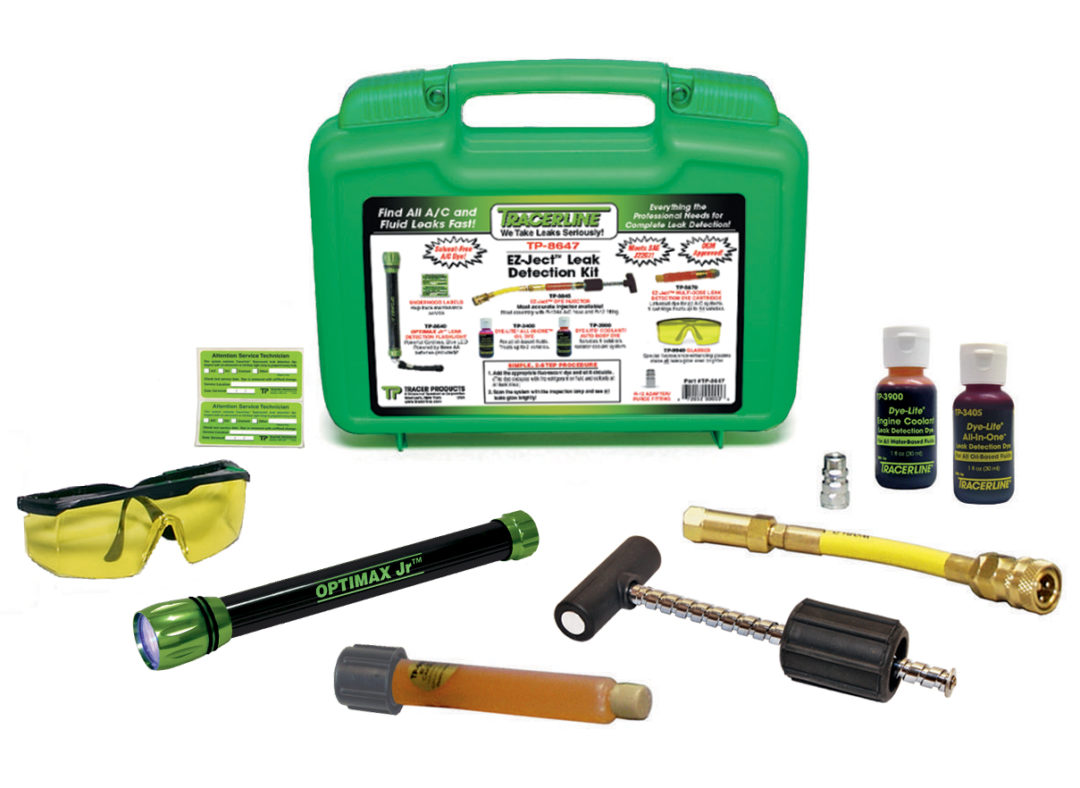 Tracer offers A/C, fluid leak detection kit