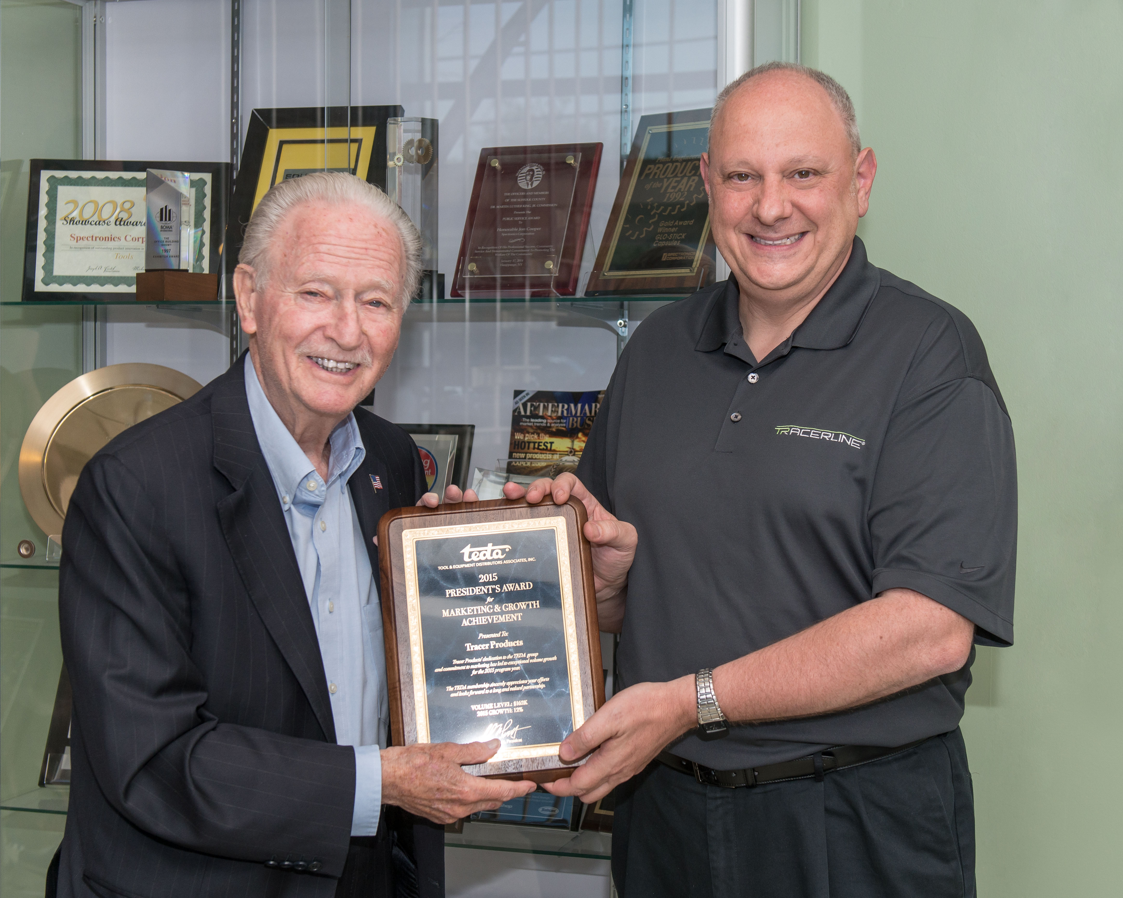 Tracer Products Earns Award for Market Growth Achievement