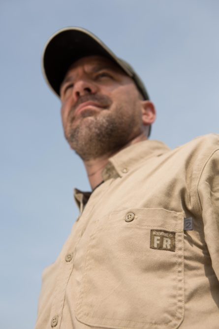 Twill work shirt from Wolverine is flame-resistant
