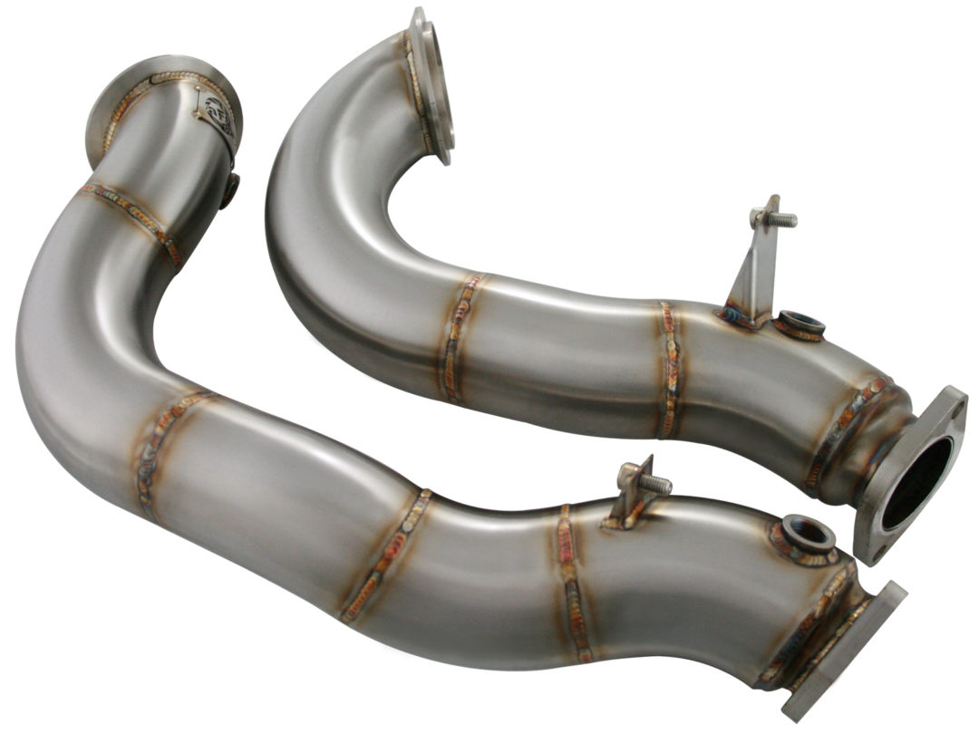 Twisted Steel Down-Pipe for BMWs from aFe Power