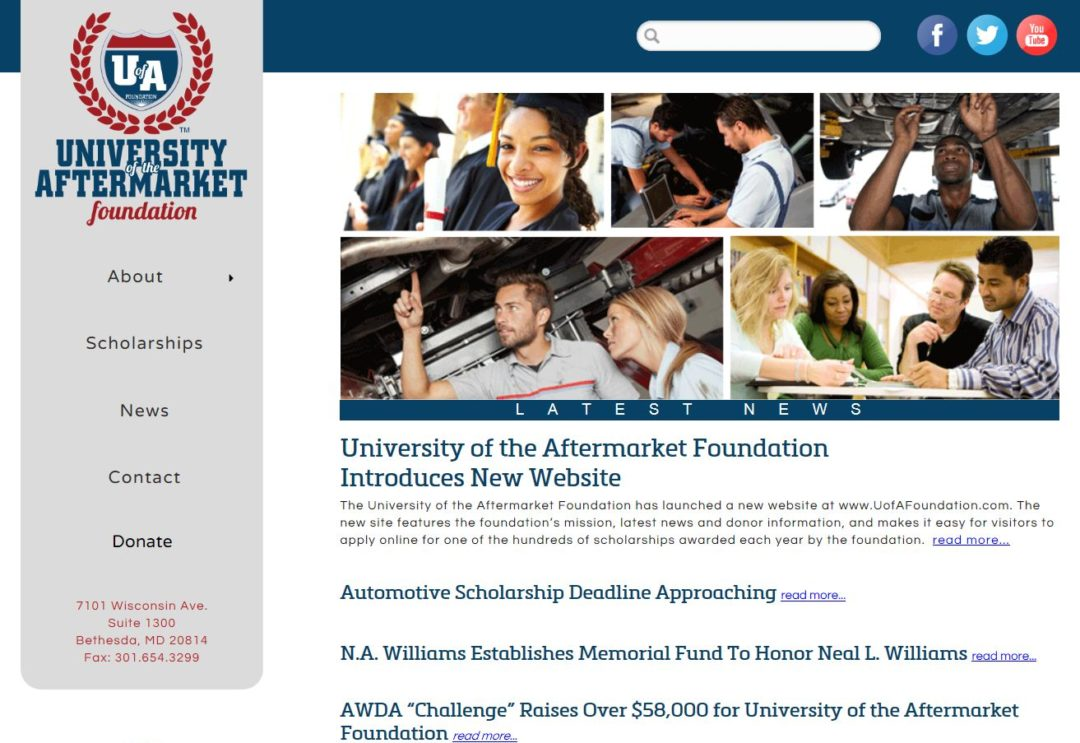 University of the Aftermarket Foundation Introduces New Website