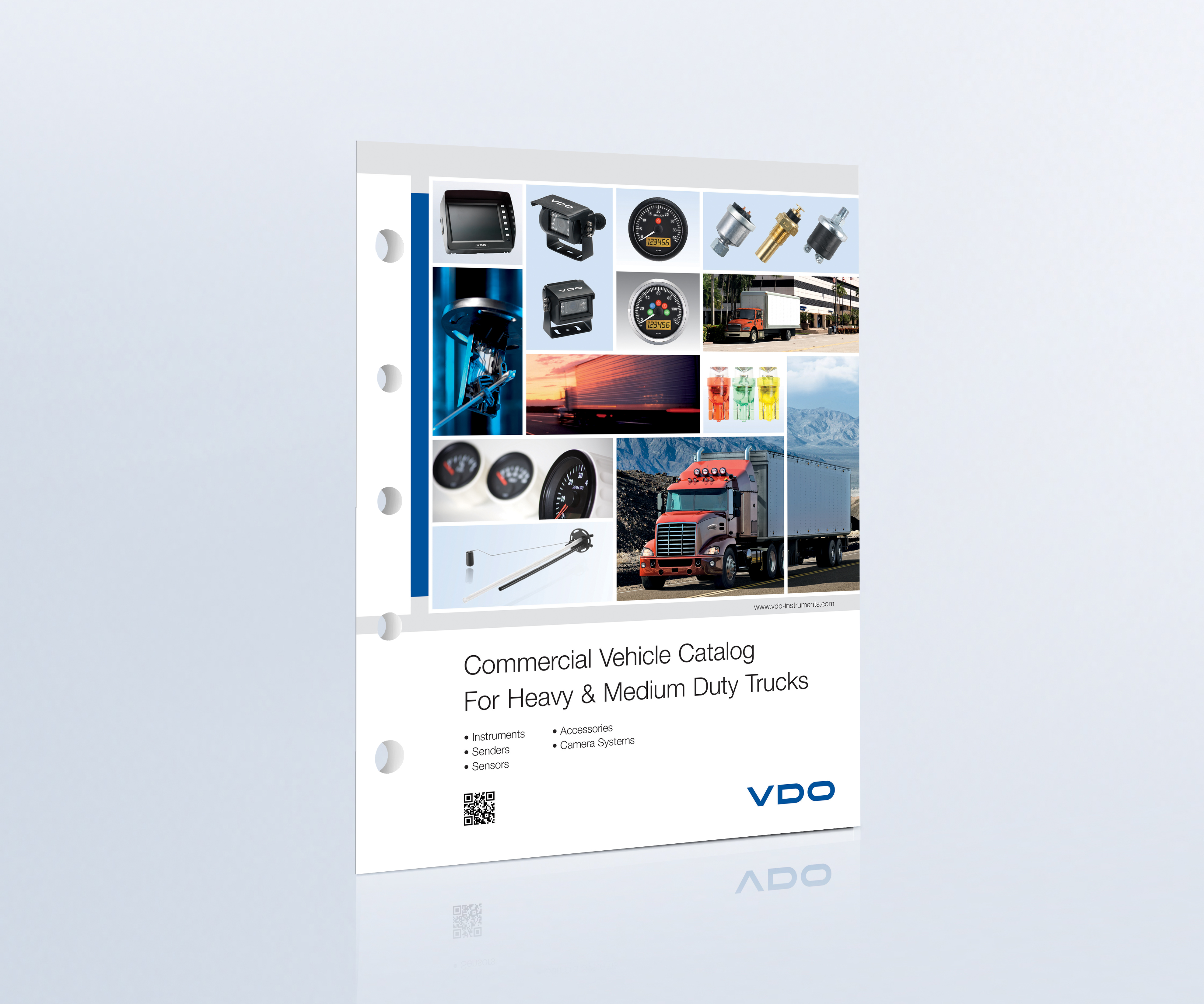 VDO Instrumentation Catalog features the latest gauges and accessories for heavy-duty trucks