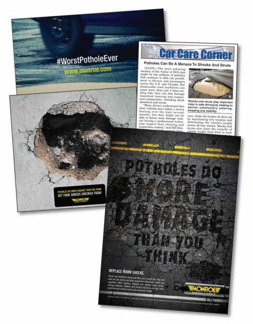 Vehicle safety is focus of Tenneco 'Potholes' campaign