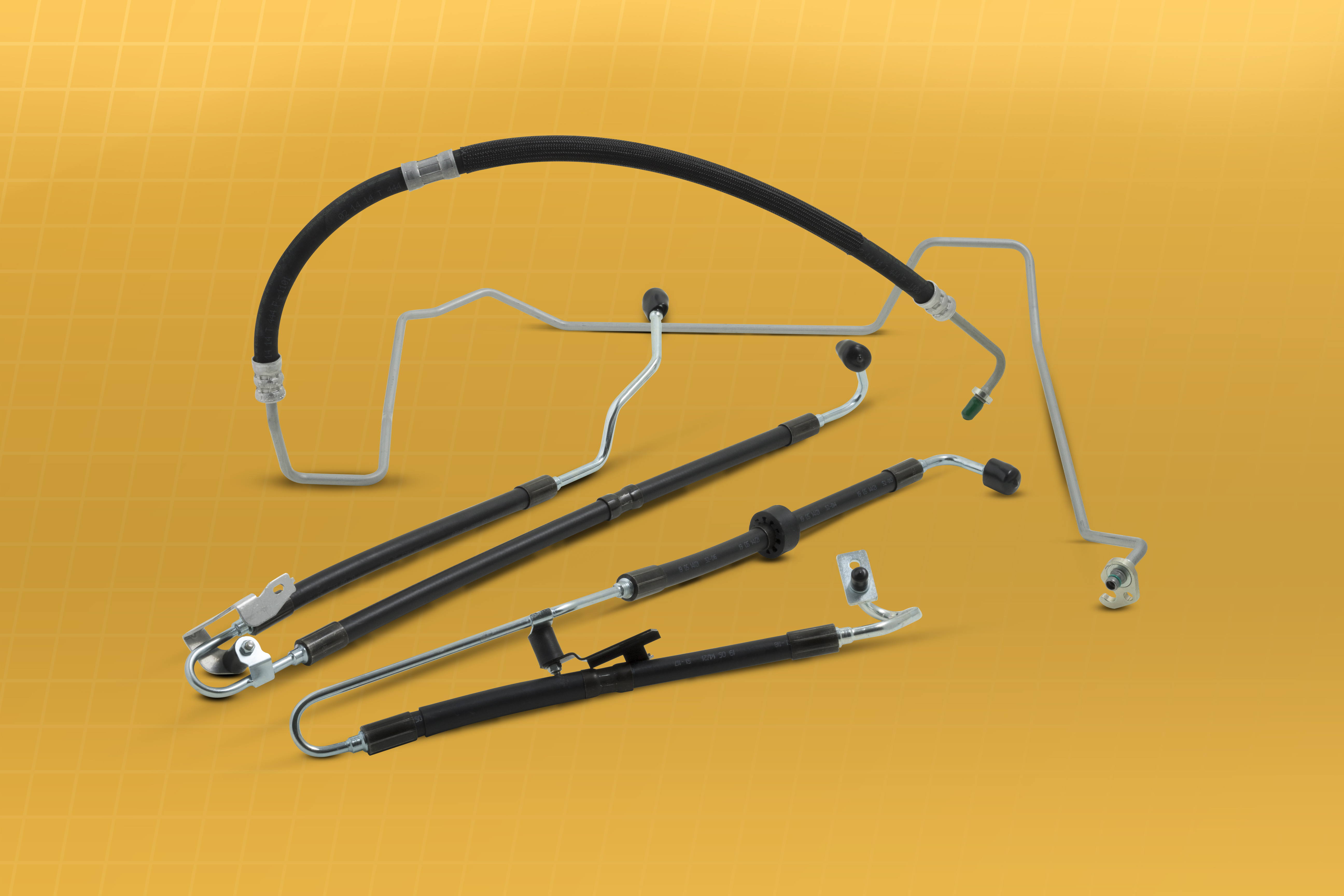 Vehicle-specific power steering hose line