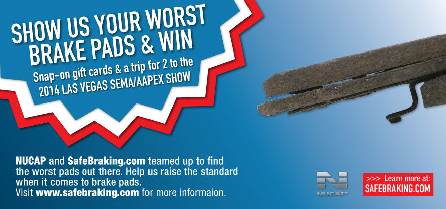 Win a trip to SEMA 2014 in Nucap brake pad promotion