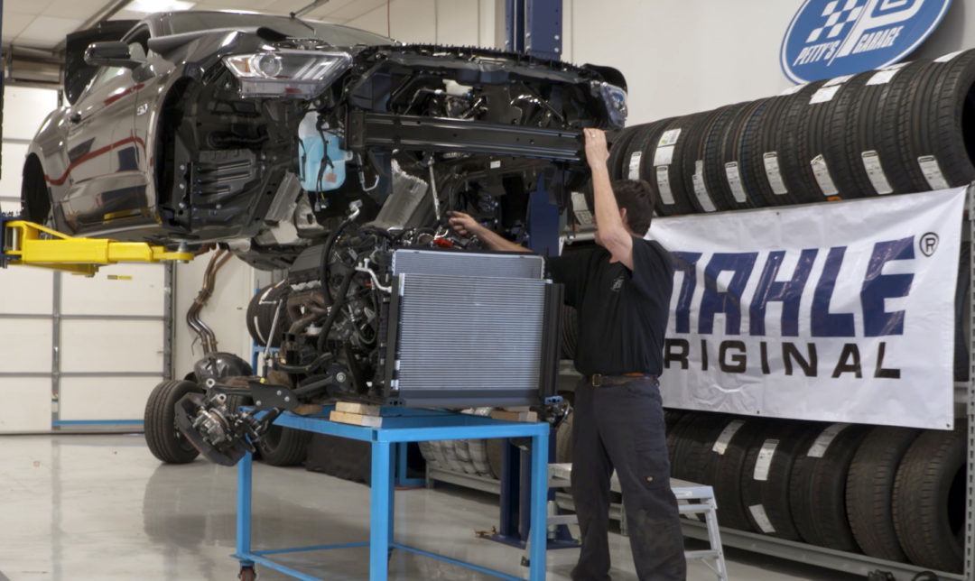 Work Begins on Mahle Ford Mustang at Petty's Garage